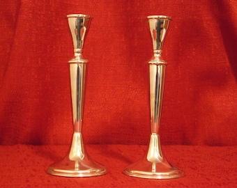 Sterling Silver Candlesticks, Handmade in Israel by Hazorfim!  Sleek, modern design.  HAPPY PASSOVER!