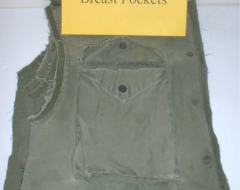 M-51 and M-65 field jacket RIGHT breast pockets for sewing projects, crafting, cosplay, etc.