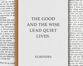EURIPIDES Literary Quote Card // Premium 100% Recycled Paper // Vintage Stationery, Greeting Card, Small Wall Art