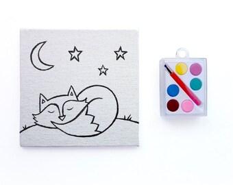 Watercolor Paint Set ~ Sleepy Fox