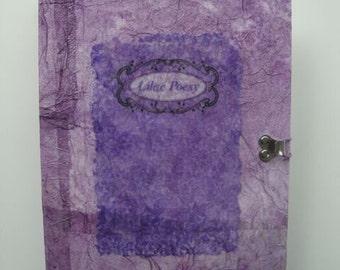 Journal Lilac Poesy Tagebuch