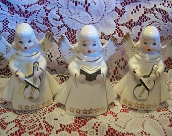 Three Singing Angel Figurines, Japan