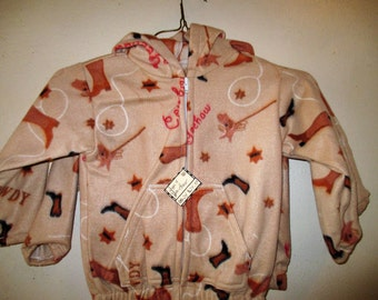 Size 4 Tan Yee Haw Fleece Jacket