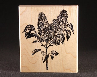 "Lilac Rubber Art Stamp (3.5"" x 4"")"