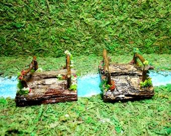 Fairy Garden Bridge-Choice of 2 Bridges-OOAK-Terrarium Bridge