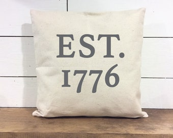 Memorial Day Pillow - American Flag pillow cover - Patriotic Pillow Cover - 4th of July pillow cover - Rustic Decor 4th of July