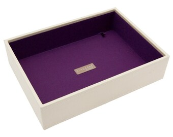 Stackers Cream & Purple Classic Deep Open Jewellery Tray LC70593
