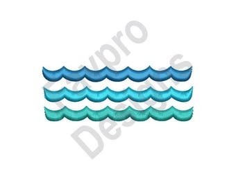 Water Waves - Machine Embroidery Design