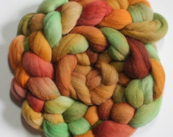 Layers of Earth - hand dyed merino roving - 4 oz spinning fiber - felting wool - hand painted spinning fiber - spinning wool - dyed merino