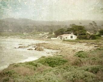 Landscape Photography, California, Coast, Beach, Ocean, Nature Photo, Monterey, Fine Art Print, Sage Green, Cream, Neutral, Rustic Decor
