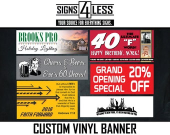 Single Sided Custom Vinyl Banner
