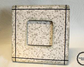 Silver Geometric Frame