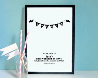 Personalised Hen Party Gift Print