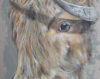 Big Highland cow table plan