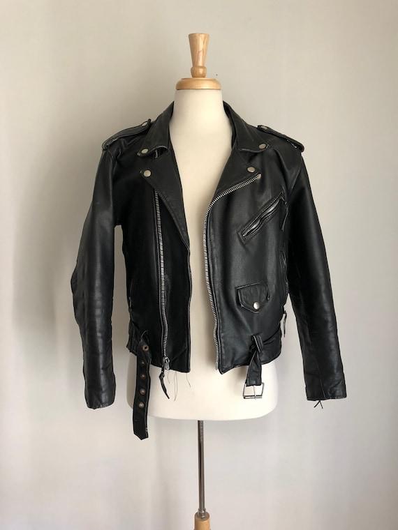 Bonus 80s Leather Rad Vintage Grunge 42 Moto Sz Jacket Biker 90s nZ8PZ7