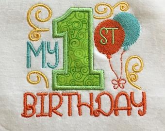 First birthday baby onesie, infant bodysuit, cake smash, made to order