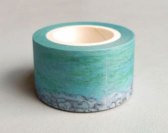 New Zealand Landscape : Taiwanese Washi Masking Tape One Roll (25 mm) = Lake Tekapo