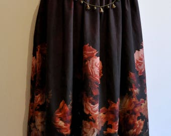 long skirt mori flowers