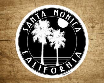 "Santa Monica California 3"" Decal Sticker Surfing Pacific Ocean Surf"