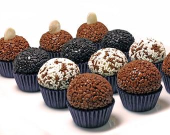 100 Gourmet Brigadeiro Truffles Made with Belgian Chocolate (Brazilian Truffles), Dessert Table,Sweet table,Candy buffet Gluten-Free