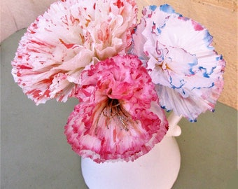 Super stylesfleurs artificial, 3 paper flowers, bouquet, decoration, wedding