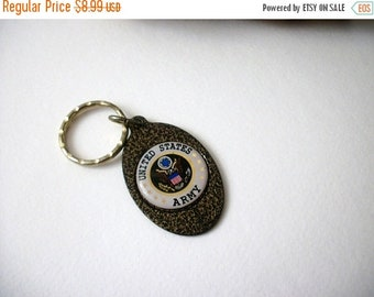 ON SALE Vintage Antiqued Bronze Key Ring 82516