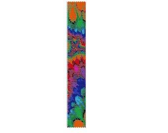 BPT002 Thin Bracelet Pattern 2 Odd Count Single Drop Peyote Bracelet PATTERN