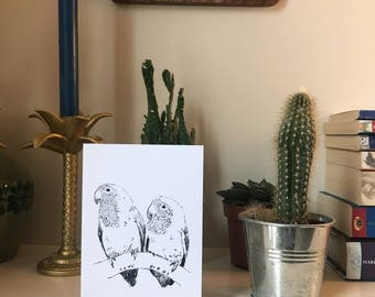 Love Birds Limited Edition Valentines Day Card