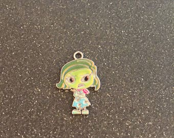 Inside Out Disgust charm, Disney charm
