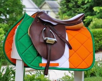 Custom Saddle Pad Ireland/Irish Flag - MADE TO ORDER