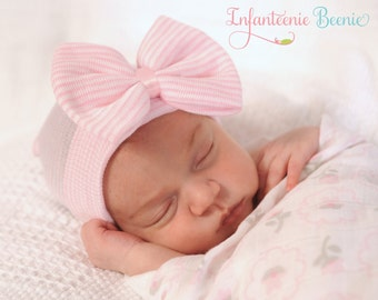 BABY GIRL HAT baby girl newborn girl hat infant girl hat hospital newborn hat newborn hat infant hat baby hat baby bow take home outfit