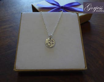 Handmade Silver Om Pendant Necklace