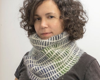 Sale Earthy Handspun Handknit Scarf, Neck warmer, Winter Accessory, Merino, Cashmere, Angora, Multicolor