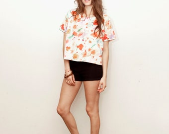 The Exploding Poppies Boxy Top