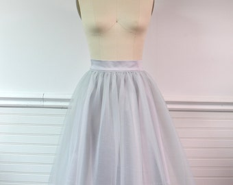 Grey Tulle Skirt, Womens Adult tulle skirt, Party Skirt, Bridesmaid Skirt, Custom Tulle Skirt, tulle bridesmaid, grey bridesmaid