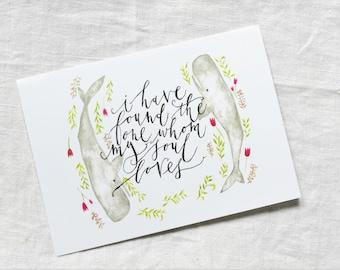 CARD - Whom My Soul Loves / Wedding card