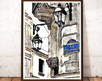 Paris Street Picture, French Home Decor, Paris Print, Paris Wall Art, Parisian, City of Paris, Paris Architecture