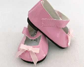 Baby Doll Mary Jane Shoes - Pink Shoes for 15 and 16 inch Doll -  Doll Accessories - Pink Doll Shoes - Gift for Girls - Girls Doll Shoes