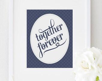 8x10 - Together Forever - Custom Color