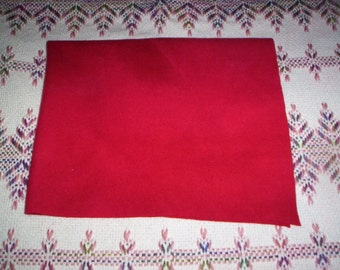 Felted Red Wool - (F)