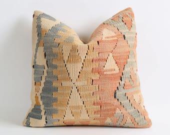 Pale southwest pillow, turkish, kilim cushion, kilim rug, aztec pillow, kilim rug pillow, pillows, vintage kilim pillow, southwestern pillow
