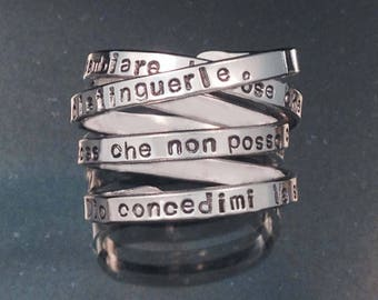 Italian Version Serenity Prayer Ring Foreign Language by donnaodesigns