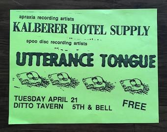 Kalberer Hotel Supply gig poster Patrick Barber