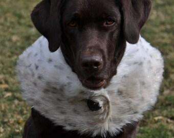 Dog Coat / Fur Stole for Dogs / Faux Fur Stole / Dog Coat / Dog Sweater / Faux Fur Cape / Leopard Fur