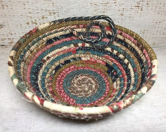 Southern Exposure - Cotton Pottery - Clothesline Bowl - Coiled Fabric Bowl