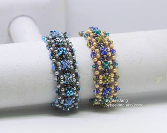 PDF Tutorial - Florentina bracelet Beading Instruction Instant download Beadweaving Pattern