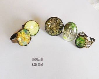 Rings photography • jewelry metal choice and fancy rings • green design