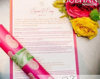 Paisley Wedding Program Scrolls with Print at Home Option