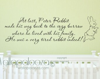 Peter Rabbit Wall Decal - Nursery Wall Decal - Baby Room Wall Decal - Peter Rabbit