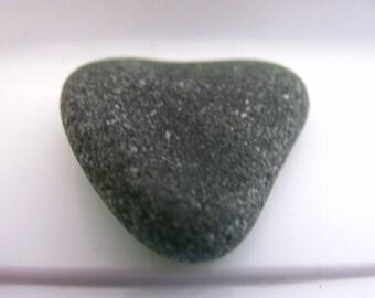 Seaglass green heart, Green beach glass